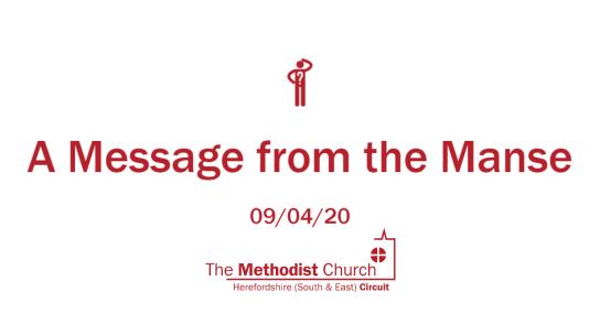 Message from the manse 9-4-20